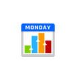 chart calendar logo icon design vector image