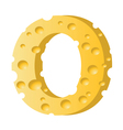 cheese letter O vector image vector image