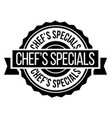 chef specials stamp on white vector image vector image