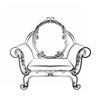 Classic royal armchair with floral ornaments vector image vector image