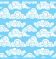 clouds in japanese and chinese style vector image vector image