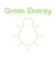 Concept of green energy word combined with light vector image vector image