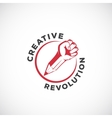 Creative Revolution Abstract Sign Symbol vector image vector image