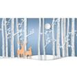 deer in forest vector image vector image