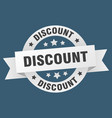 discount ribbon discount round white sign discount vector image vector image