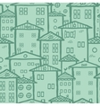 Doodle town houses seamless pattern background vector image vector image