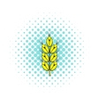 Ear of of wheat icon comics style vector image vector image