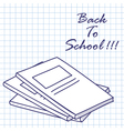 Exercise book vector image vector image