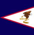 flag american samoa islands flat style vector image