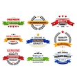 Flat banners emblems and labels vector image