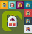 flat modern design with shadow icon backpack vector image vector image