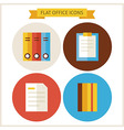 Flat Office Website Icons Set vector image vector image