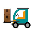 forklift with boxes icon image vector image vector image