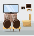 furniture concept design vector image vector image