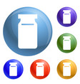glass only icons set vector image