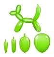 Green dog toy from a balloon isolated on white vector image
