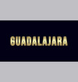 guadalajara city typography design greetings for vector image vector image