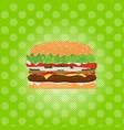 hamburger street festival fast food menu seamless vector image vector image