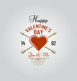 happy valentines day typographic label vector image