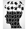 head puzzle vector image vector image