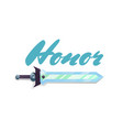 honor game element with sword vector image vector image