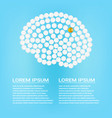 human brain with pills with text isolated on a vector image vector image
