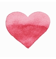isolated watercolor red heart vector image