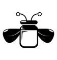 jar bee honey icon simple style vector image vector image