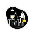 job interview - flat design style vector image vector image