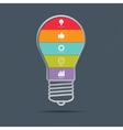 Light bulb infographics concept vector image vector image
