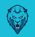 lion head sport mascot vector image vector image