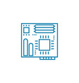 motherboard linear icon concept motherboard line vector image