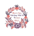 Mothers Day card with wildroses vector image