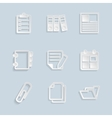 Paper Document Office Icons vector image vector image