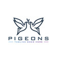 pigeon logo design vector image vector image