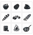 Potato Icons Set vector image