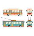 Public Transport Bus Trolleybus 4 Icons vector image