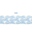 sea waves border vector image