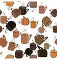 seamless abstract coffee cup background drink vector image