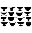 set of different bowls vector image
