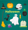 set of objects for halloween vector image vector image