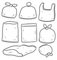 set of plastic bag vector image vector image