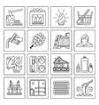 Set of Sauna Line Icon vector image