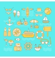 Set of summer vector image vector image