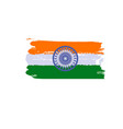 splash art india flag indian republic day vector image vector image