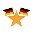 star shape with a pair of flags of germany vector image vector image