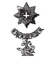 the garter is a military decoration of europe vector image vector image