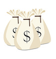 Three money bag vector image vector image