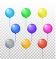 transparent balloons set vector image vector image