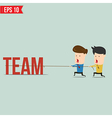 Two businessmen playing tug of war pull business vector image vector image